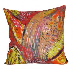 Coussin carré Fuego orange