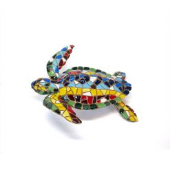 grande tortue décorative multicolore