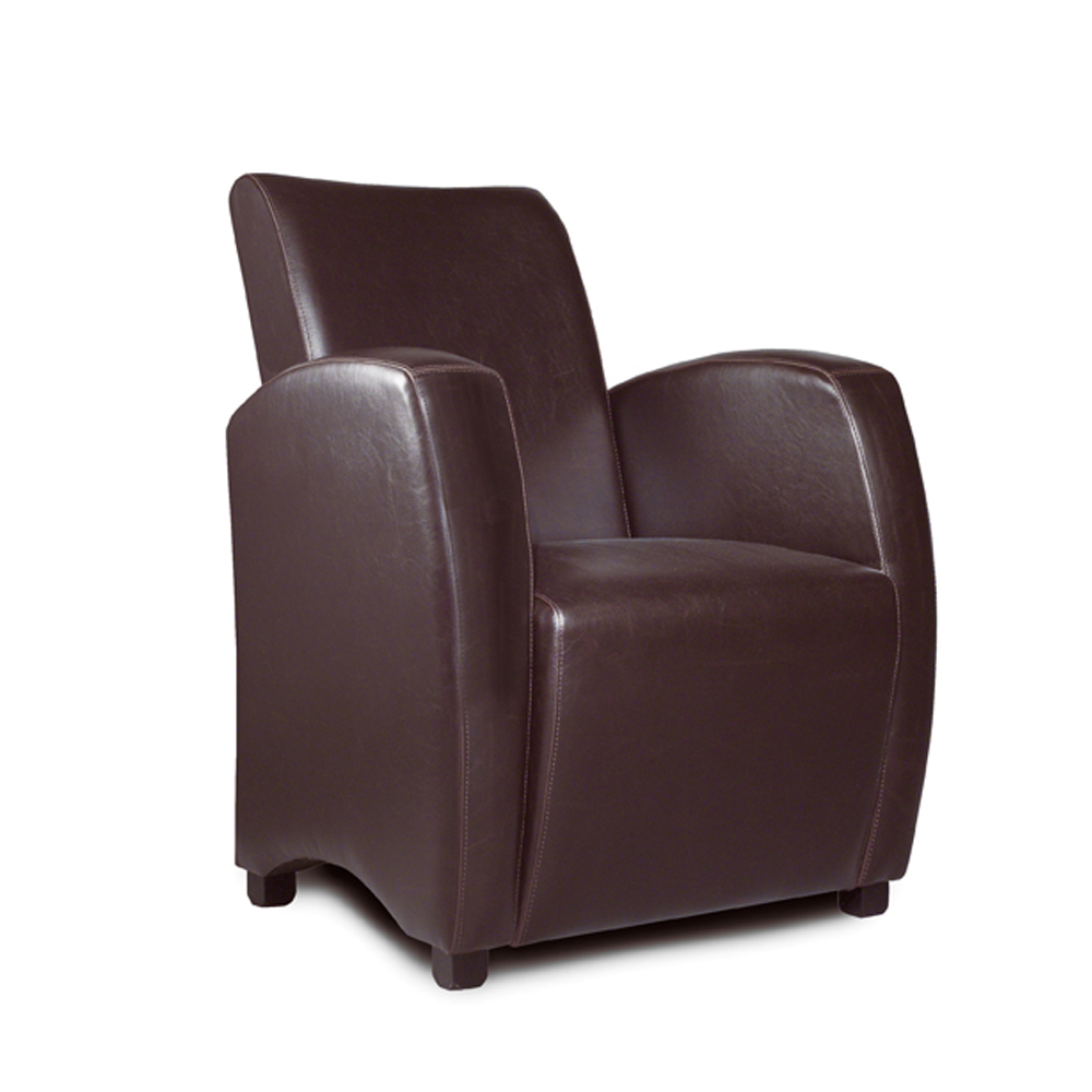 fauteuil club en simili cuir marron. Black Bedroom Furniture Sets. Home Design Ideas