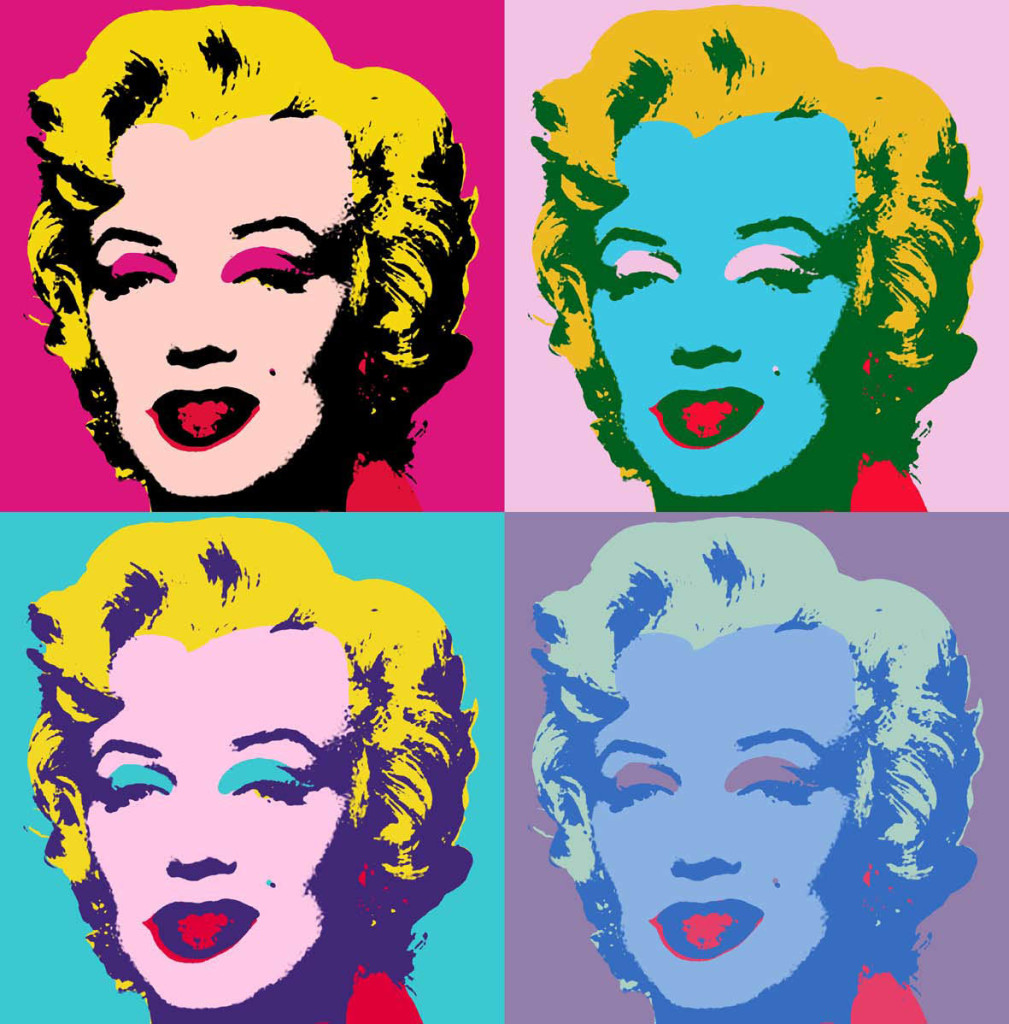 Marilyn Monroe tableau Pop art