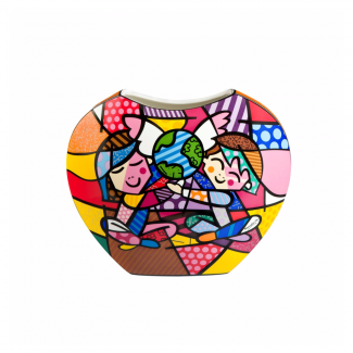 Vase déco en porcelaine Children of the World Romero Britto