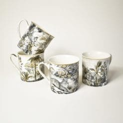 Coffret 4 mugs Rétro Jungle